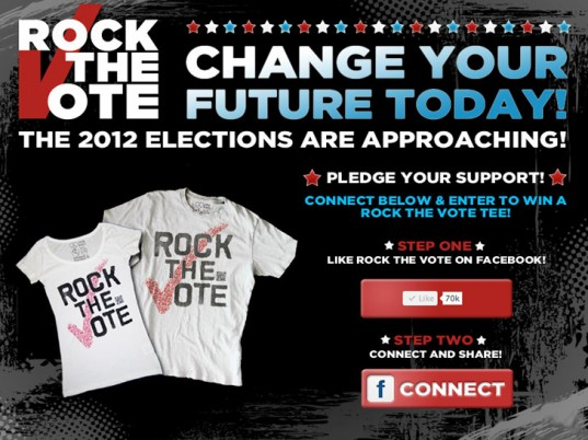 Rock the Vote, Scan to Vote, QR codes, wearable technology, organic cotton, eco-fashion, sustainable fashion, green fashion, ethical fashion, sustainable style