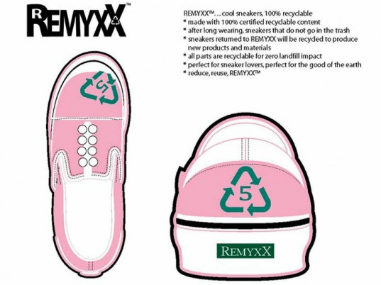 Remyxx, eco-friendly shoes, sustainable shoes, eco-friendly sneakers, sustainable sneakers, recyclable shoes, recycled shoes, Gary Gagnon, eco-fashion, sustainable fashion, green fashion, ethical fashion, sustainable style, Kickstarter