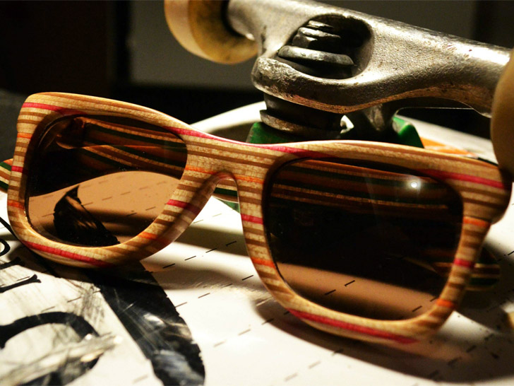 42b2db41f4 Eqo Optics Recycles Unwanted Skateboards Into Off-the-Hook Sunglasses