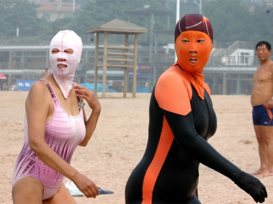 Face-Kini, China, Qingdao, sunburn, skin cancer, sun damage, sun protection, eco-fashion, sustainable fashion, green fashion, ethical fashion, sustainable style, eco-beauty, eco-friendly beauty, sustainable beauty, natural beauty
