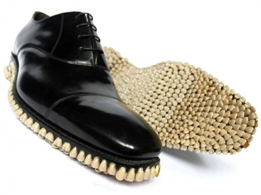 Fantich and Young, recycled dentures, upcycled dentures, human teeth, eco-friendly shoes, sustainable shoes, recycled shoes, upcycled shoes, Halloween, green Halloween, eco-fashion, sustainable fashion, green fashion, ethical fashion, sustainable style, eco-art