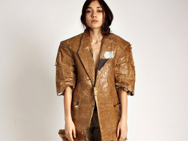 Does Aki Goto S 480 Paper Bag Jacket Take Recycling Too Far