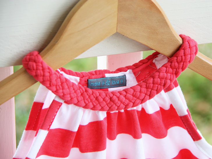 Fabuleux Recycled T-Shirt Girl Dress | Ecouterre OJ87