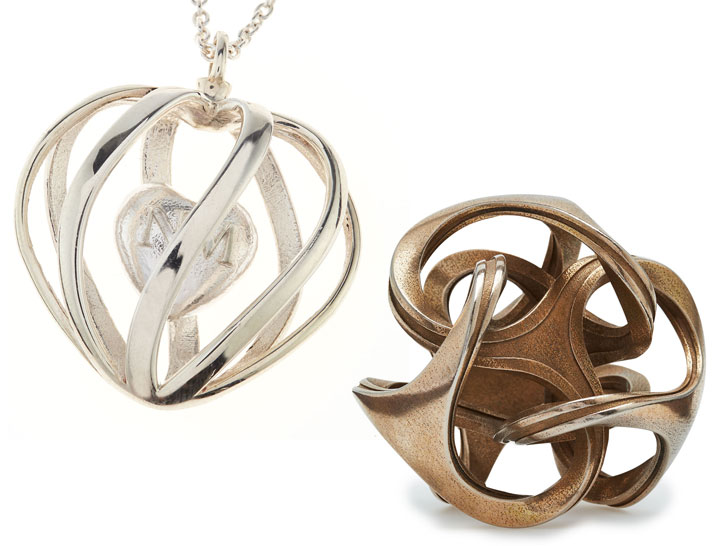 3D-Printed Silver, Stainless Steel Jewelry Available at Neiman Marcus