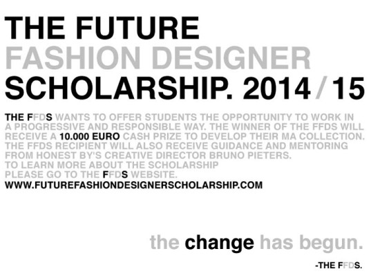 Future Fashion Designer Scholarship, Honest By, Bruno Pieters, eco-fashion competitions, eco-fashion contests, eco-fashion, sustainable fashion, green fashion, ethical fashion, sustainable style