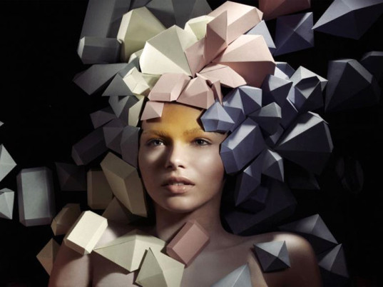 Lacy Barry, Berlin, eco-friendly headdresses, sustainable headdresses, paper fashion, paper accessories, eco-fashion, sustainable fashion, green fashion, ethical fashion, sustainable style
