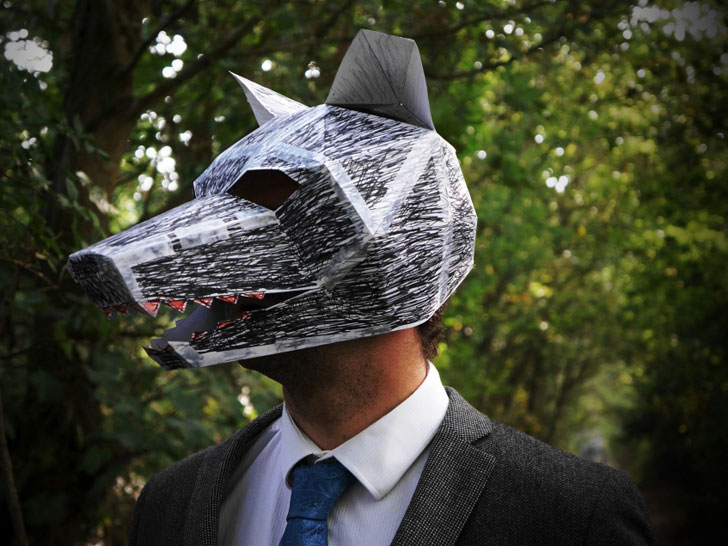 Scare up a last minute halloween mask with these diy cardboard plans diy eco fashion solutioingenieria Image collections