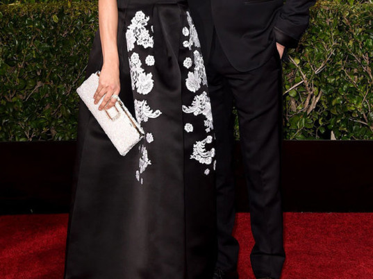 Livia Firth, Colin Firth, eco-fashion, sustainable fashion, green fashion, ethical fashion, sustainable style, Golden Globes, 2015 Golden Globes, Erdem, Green Carpet Challenge, Eco Age