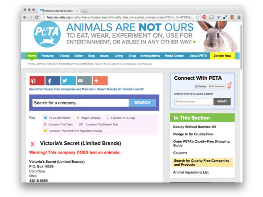 Victoria's Secret, animal testing, animal cruelty, People for the Ethical Treatment of Animals, PETA, eco-fashion, sustainable fashion, green fashion, ethical fashion, sustainable style