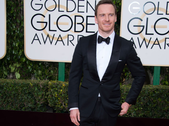 Michael Fassbender, Golden Globes, 2016 Golden Globe Awards, Green Carpet Challenge, Eco-Age, Livia Firth, Tom Ford, eco-friendly suits, sustainable suits, eco-friendly menswear, sustainable menswear, eco-celebs, eco-friendly celebrities, sustainable celebrities, green celebrities