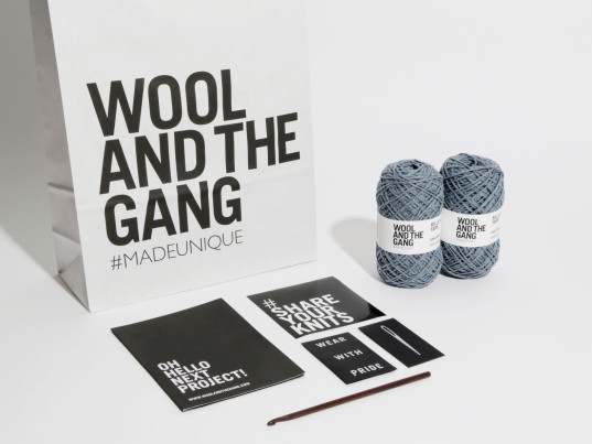 Wool and the Gang, knitting, recycled denim, upcycled denim, eco-fashion, sustainable fashion, green fashion, ethical fashion, sustainable style, recycled jeans, upcycled jeans, eco-friendly textiles, sustainable textiles, eco-textiles, eco-friendly yarns, sustainable yarns