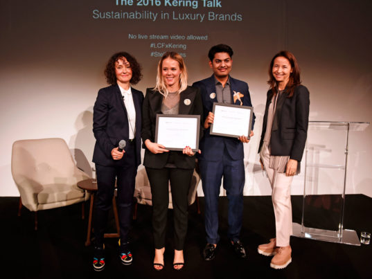 Kering Award for Sustainable Fashion, mushroom leather, tobacco dyes, tobacco, Brioni, Stella McCartney, Centre for Sustainable Fashion, London College of Fashion, eco-fashion, sustainable fashion, green fashion, ethical fashion, sustainable style, peace silk