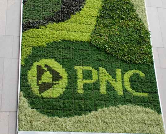 living wall, green wall, PNC, pittsburgh, green living technologies