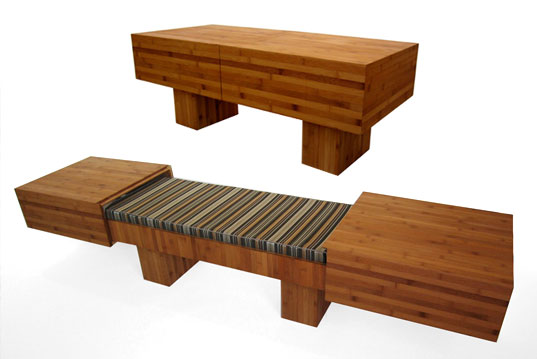 Akemi Tanaka, Futaba, Tagei, Pratt Industrial Design, transformer furniture, transforming furniture, table unfolds into seat