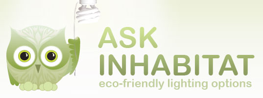 Ask Inhabitat, Habby the Inhabitat Owl, Illustration by Jill Fehrenbacher, Your Green Dear Abby, Dear Habby, Environmentally friendly lighting, sustainable lightbulbs, CFLs, compact florescent bulbs