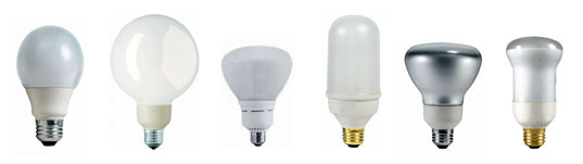 Types of CFLs, compact fluorescent, CFL, CFL's, R-CFL's, reflector CFL, energy-efficient lighting, energy-efficient bulbs