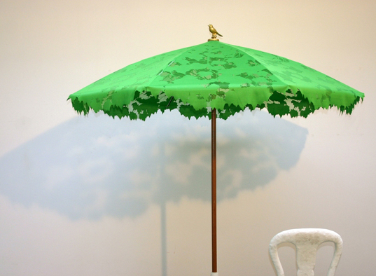 droog design, museum of arts and design, chris kabel, shadylace parasol, faux tree