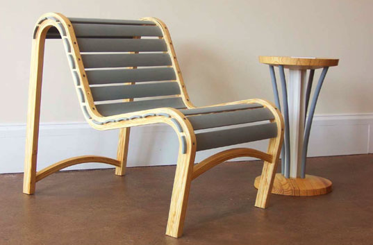 Chris Burton Repose Lounge Chair, Chris Burton, Upcycling, recycled furniture