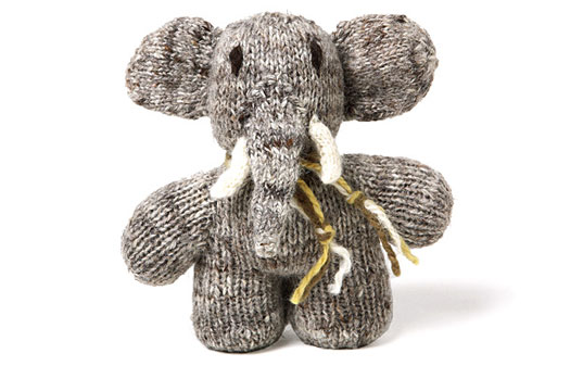 Dwelling Baby Elephant Toy, Handmade by rural artists in Kenya, Branch Home, cutey mccutes