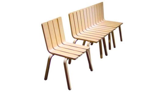 Alain Bertreau, Folding Furniture, Fence Chair, Modular furniture