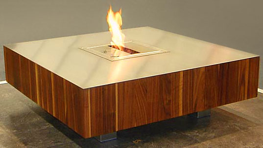 Fire Furniture, Schultedesign, Cologne Furniture Fair, Furniture with embedded fireplace, Fire table