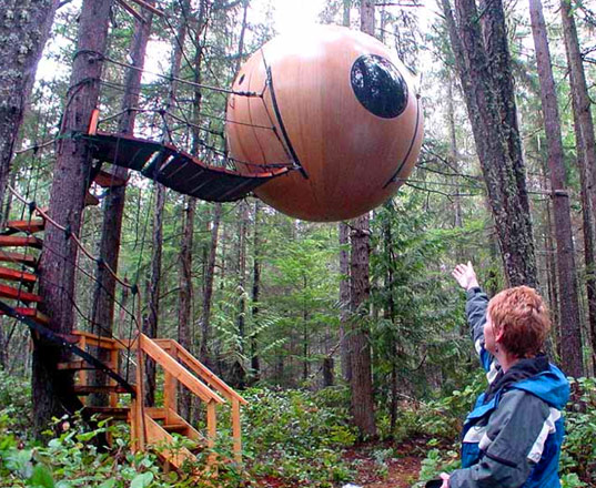 Ewok House, Tom Chudleigh, Free Spirit Sphere, Eco-friendly treehouse