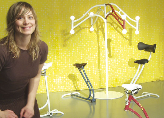FridasForm, Frida Ottemo Kallstrom, recycled bicycle furniture, Salone satellite, Cykelmobelprojekt