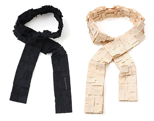Gayla Rosenfeld Modular Scarves, Reclaimed Ultrasuede, Branch Home