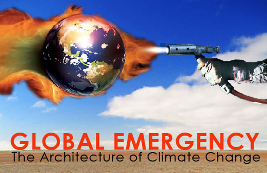 Global Emergency, The Architecture of Global Warming, 2010 Event at Columbia GSAPP, Graphic by Joe Vidich and Mat Tarczynski