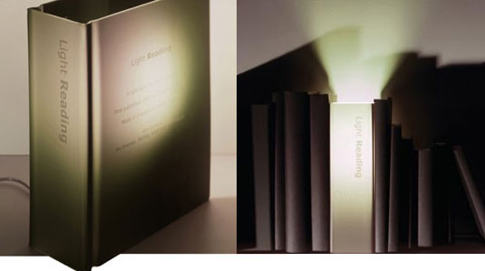 Light Reading Lamp, Sam Johnson, Thorsten Van Allen, GNR8, CFL, Compact Flourescent Reading lamp, low energy book lamp