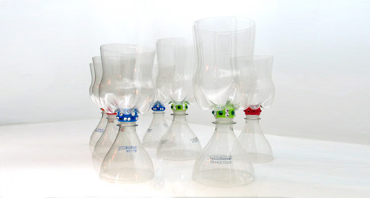 Redstr Collective, Plastic P.E.T Chalices, Recycled Water bottles