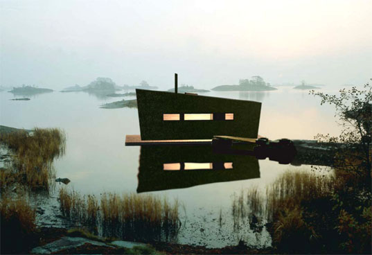 Inhabitat, Prefab Sauna-1, Floating Sauna