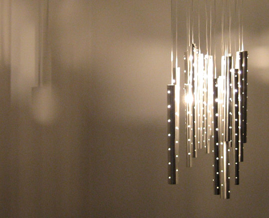 Ilan El, rain chandelier, interactive chandelier, wind-chime light