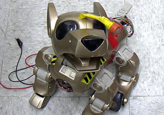 ROBOTIC POLLUTION-SNIFFING ECO DOGS, Robotic Feral Dogs, Robo Eco Dogs, Robo Pollution sniffing dogs, Natalie Jeremijenko, Jeff Warren, Diego Rotalde, Feral Robots, Robotic design, robotic eco dogs