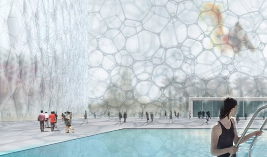 WaterCube, PTW Architecture, 2008 Olympics, National Swimming Center, Beijing Building, Bubble Building, WaterCube Interior