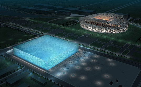 WaterCube, PTW Architecture, 2008 Olympics, National Swimming Center, Beijing Building, Bubble Building